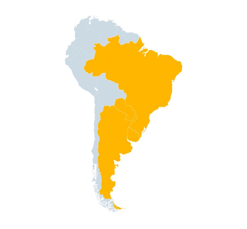Acordo Mercosul – União Europeia: países pertencentes ao Mercosul